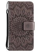 Per iPhone X Custodie cover A portafoglio Porta-carte di credito Con supporto Con chiusura magnetica Decorazioni in rilievo Integrale