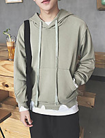 Men's Going out Hoodie Print Hooded Micro-elastic Cotton Long Sleeve Fall