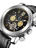 Herrn Kinder Sportuhr Militäruhr Mechanische Uhr Japanisch Automatikaufzug Chronograph Wasserdicht Transparentes Ziffernblatt