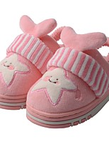 Girls' Shoes Velvet Winter Fur Lining Fluff Lining Comfort Slippers & Flip-Flops Pom-pom For Casual Light Pink Light Blue Blushing Pink