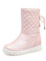 Mujer Zapatos Semicuero Primavera Invierno Botas de Moda Botas Tacón Cuña Dedo redondo Botines/Hasta el Tobillo Lunares Para Casual