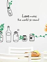 Romantik Mode Formen Wand-Sticker Flugzeug-Wand Sticker Dekorative Wand Sticker Stoff Haus Dekoration Wandtattoo