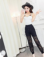Women's Going out Sexy Summer Tank Top Pant Suits,Solid Strap Sleeveless
