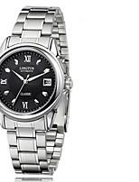 Муж. Модные часы С автоподзаводом Календарь Фосфоресцирующий сплав Группа Серебристый металл
