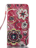 für Fall Abdeckung Kartenhalter Brieftasche mit Standfuß Muster Ganzkörper Fall Blume hart PU Leder für Samsung Galaxy A3 (2017) a5 (2017)