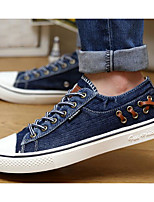 Men's Shoes Canvas Spring Summer Comfort Light Soles Sneakers For Casual Blue Gray Black