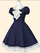 Einteilig/Kleid Gothik Niedlich Klassische/Traditionelle Lolita Vintage Inspirationen Elegant Prinzessin Cosplay Lolita Kleider Schwarz