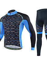Cycling Jersey with Tights Men's Long Sleeves Bike Clothing Suits Quick Dry Stretchy Breathability Stripe Fashion Autumn/Fall Cycling/Bike