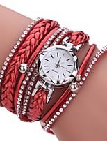 Per donna Orologio alla moda Simulato Triangolo Orologio Orologio braccialetto Cinese Quarzo imitazione diamante PU Banda Stile Boho