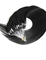 100s/Pack Micro Loop Ring Hair Extensions Virgin Malaysian Human Hair 40g-50g/Lot Long Wavy Micro Loop Hair Extensions on Sale 16-24 Inch