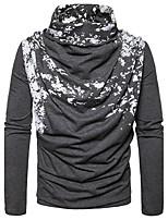 Herren Standard Pullover-Lässig/Alltäglich Punkt Rollkragen Langarm Baumwolle Frühling Herbst Mittel Mikro-elastisch