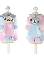 Dog Sweatshirt Dog Clothes Casual/Daily Cartoon Blue Blushing Pink