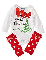 Baby Fashion Polka dots Print One-Pieces,Cotton Spring/Fall Summer Long Sleeve