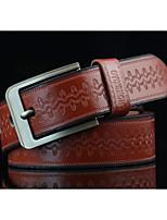 Men's Alloy Waist Belt,Pattern Print Retro Jacquard