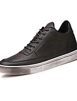 Для мужчин обувь Полиуретан Весна Осень Удобная обувь Кеды Шнуровка Назначение Повседневные Черный Кофейный Коричневый