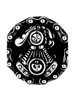 Per uomo Anello a metà dito Gioielli Stile punk Personalizzato Acciaio inossidabile Lega Di forma geometrica A forma di teschio Gioielli