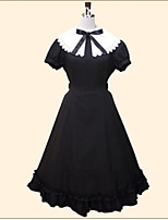 One-Piece/Dress Gothic Lolita Sweet Lolita Classic/Traditional Lolita Vintage Inspired Elegant Princess Cosplay Lolita Dress Black Solid