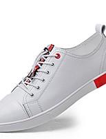 Da uomo Scarpe Pelle Nappa Primavera Autunno Comoda Scarpe da immersione Sneakers Lacci Per Casual Bianco Nero