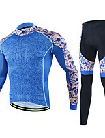 Cycling Jersey with Tights Men's Long Sleeves Bike Clothing Suits Quick Dry Stretchy Breathability Fashion Autumn/Fall Cycling/Bike