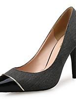 Femme Chaussures Tissu Printemps Automne Confort Chaussures à Talons Bout pointu Combinaison Pour Habillé Gris foncé Gris clair
