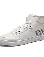 Da uomo Scarpe Finta pelle Tessuto Primavera Autunno Comoda Sneakers Fibbia Lacci Per Casual Bianco Nero