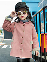 Girls' Solid Jacket & Coat,Cotton Polyester Fall Winter Long Sleeve