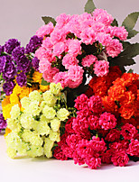 1 Branch Plastic Carnation Tabletop Flower Artificial Flowers