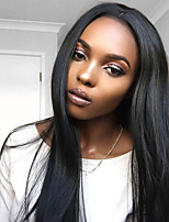 Women Human Hair Lace Wig Full Lace Wigs 180% Density Straight Wigs Malaysian Hair Black Long