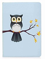 cheap -For iPad (2017) Case Cover Card Holder Wallet with Stand Flip Pattern Magnetic Full Body Case Owl Hard PU Leather for Apple iPad pro 10.5