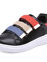 Boys' Shoes Nappa Leather Spring Fall Comfort Sneakers Lace-up For Outdoor White/Green Black White
