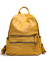 Women Bags All Seasons PU Backpack Pockets for Casual Outdoor Black Gray Yellow Red