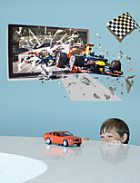Transportation Sports Wall Stickers 3D Wall Stickers Decorative Wall Stickers,Vinyl Material Home Decoration Wall Decal