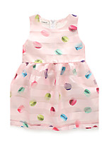Girl's Casual/Daily Print Dress,Polyester Summer Fall Sleeveless