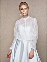 Women's Wrap Shrugs Lace Wedding Party/ Evening Buttons Lace