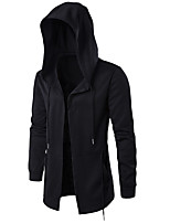 Men's Sports Plus Size Simple Hoodie Solid Hooded Micro-elastic Others Long Sleeve Spring Fall