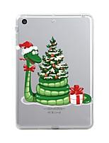 economico -Per iPad (2017) Custodie cover Transparente Fantasia/disegno Custodia posteriore Custodia Transparente Natale Morbido TPU per Apple iPad