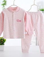 Girls' Stripe Sets,Cotton All Seasons Long Sleeve Clothing Set