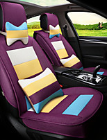 Flax Mosaic Rainbow Stripes Car Seat Cushion Seat Cover Seat Four Seasons General Surrounded By A Five Seat-Purple