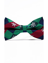 Men's Polyester Bow Tie,Grid Jacquard All Seasons