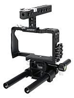 andoer professional video cage rig kit système de film avec barre de 15mm pour sony a6000 a6300 a6500 caméra caméra sans miroir ildc