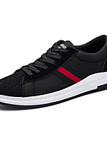 Men's Shoes PU Spring Fall Comfort Light Soles Sneakers Lace-up For Casual Black/White Black