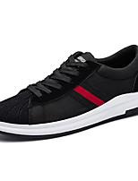 Homme Chaussures Polyuréthane Printemps Automne Semelles Légères Confort Basket Lacet Pour Décontracté Noir Noir/blanc