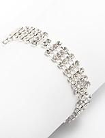Women's Chain Bracelet Rhinestone Fashion Rhinestone Alloy Jewelry For Party Daily