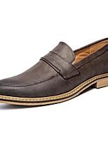 Da uomo Scarpe PU sintetico Primavera Autunno Moccasino Scarpe formali Scarpe da immersione Mocassini e Slip-Ons Lacci Per Casual Nero
