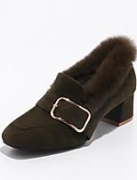 Femme Chaussures Cuir Nubuck Similicuir Automne Hiver Confort Semelles Légères Chaussures à Talons Gros Talon Bout fermé Boucle Pour