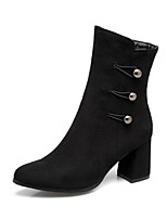 Women's Shoes Nubuck leather Fall Winter Comfort Novelty Fashion Boots Bootie Boots Chunky Heel Pointed Toe Booties/Ankle Boots Rivet For