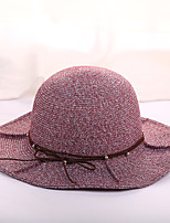 Women's Straw Sun Hat,Casual Fashion Color Block Spring/Fall All Seasons Pure Color