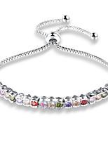 Women's Girls' Chain Bracelet Cubic Zirconia Fashion Adjustable Zircon Alloy Geometric Jewelry For Party Daily