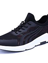 Da uomo Scarpe PU (Poliuretano) Autunno Inverno Comoda Suole leggere Sneakers Lacci Per Casual Nero