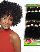 Curly Braids Hair Braid Curly 100% Kanekalon Hair Black/Burgundy Black/Medium Auburn Black/Strawberry Blonde Black 8 inch 8Piece/Set